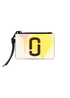 Marc Jacobs The Snapshot Spray Paint Zip Coated Leather Card Case