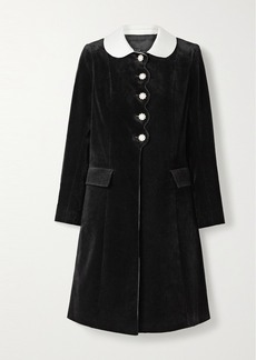 Marc Jacobs The Sunday Best Satin-trimmed Velvet-flocked Denim Coat