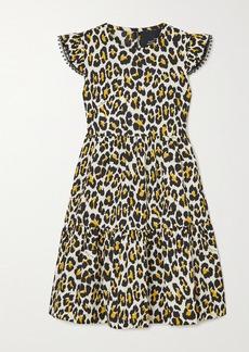 Marc Jacobs The Tent Lace-trimmed Leopard-print Cotton-poplin Mini Dress