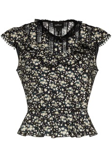 Marc Jacobs The Victorian lace trim floral top