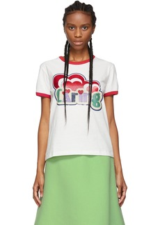 Marc Jacobs White Giving Ringer T-Shirt