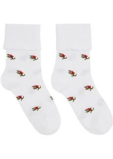 Marc Jacobs White Pointelle Socks