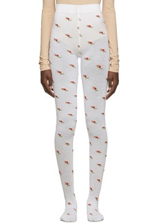 Marc Jacobs White 'The Pointelle' Tights