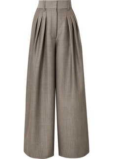Marc Jacobs Wool And Mohair-blend Wide Leg Pants