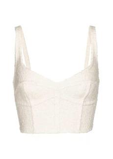 Marc Jacobs Wool-blend corset bra