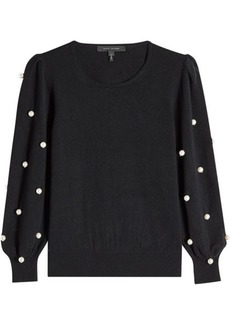 Marc Jacobs Wool Pullover with Faux Pearls
