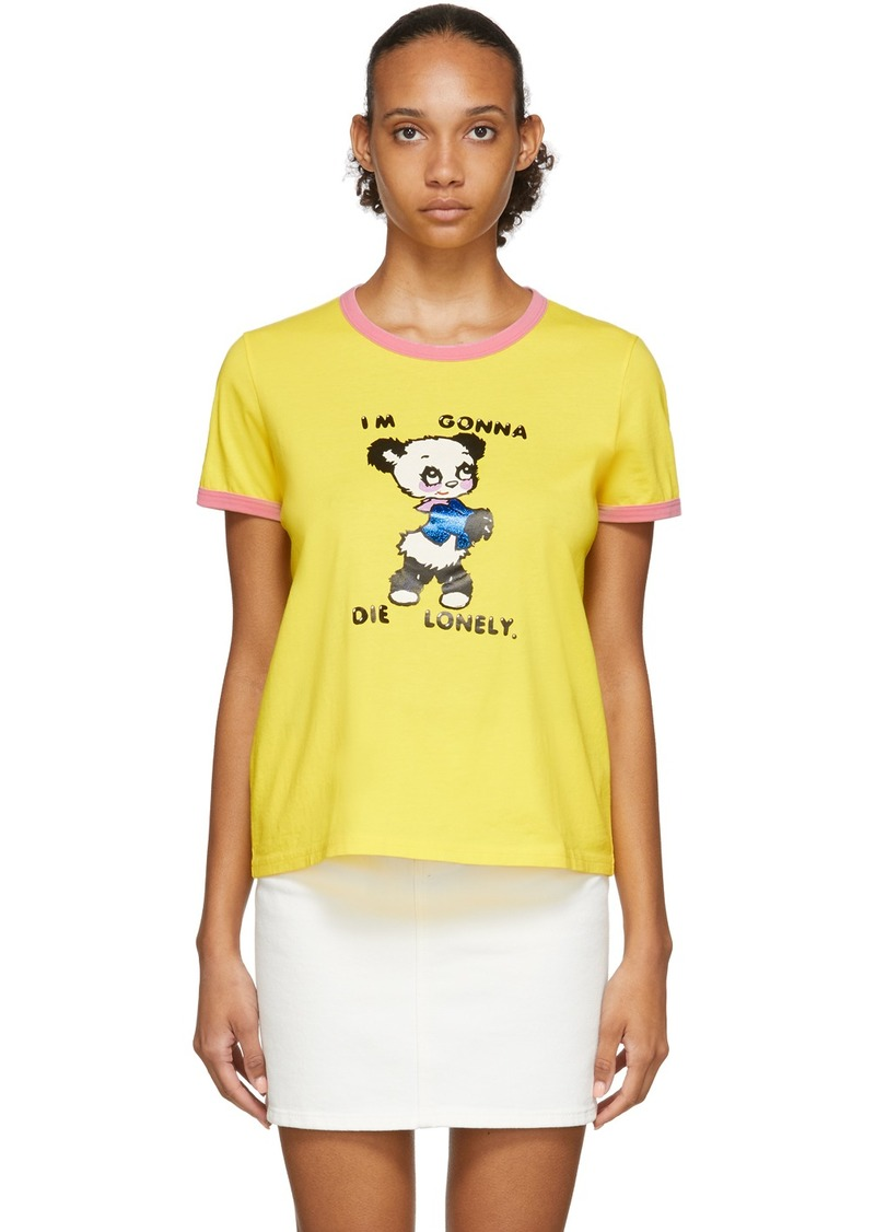 Marc Jacobs Yellow Magda Archer Edition 'The Collaboration' T-Shirt