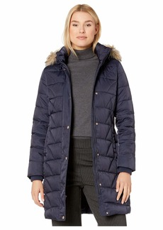 """Marc New York 40"""" Down Updated Quilting Pattern w/ Faux Fur"""
