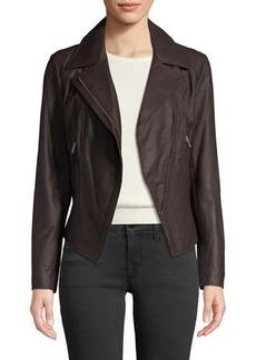 Marc New York Bayside Lightweight Leather Moto Jacket