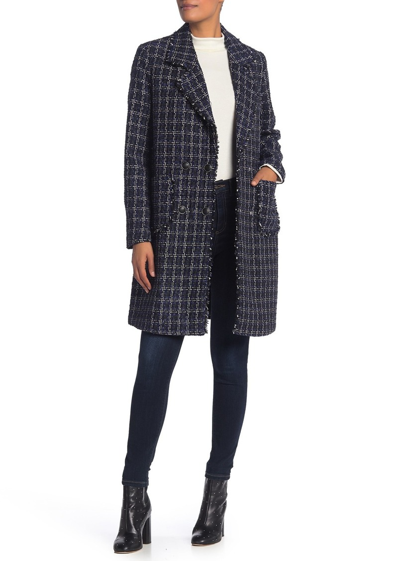 Marc New York Calla Tweed Double-Breasted Coat