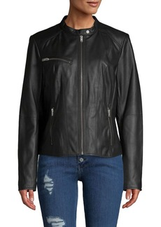 Marc New York Classic Leather Motorcycle Jacket