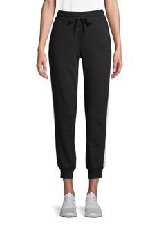 Marc New York Contrast Cotton-Blend Jogger Pants