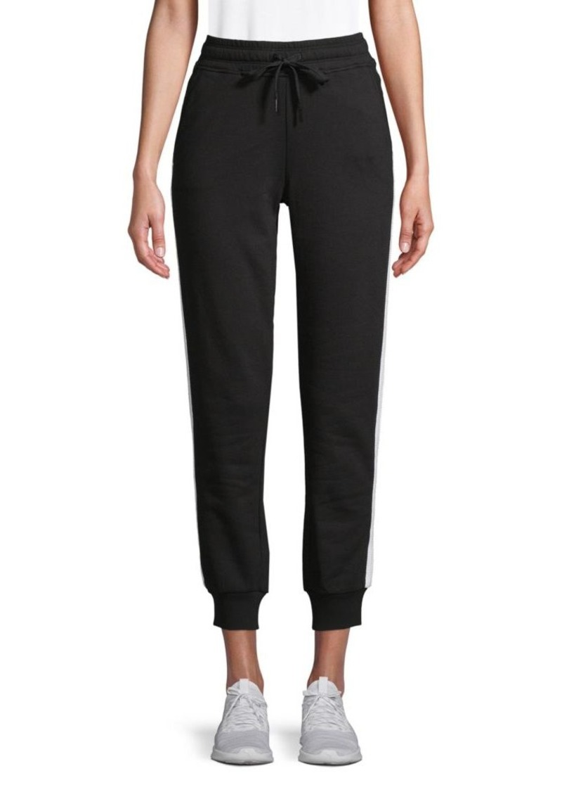 Marc New York Contrast Cotton-Blend Jogger Pants