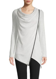 Marc New York Cowlneck Cotton-Blend Top
