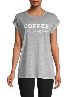Marc New York Dolman-Sleeve Slogan T-Shirt