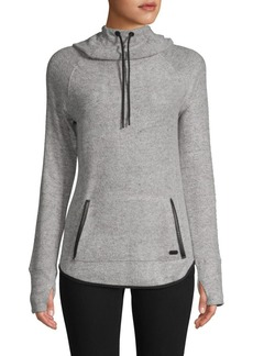 Marc New York Faux Leather-Trimmed Hoodie