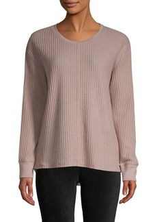 Marc New York Feather Waffle Knit Pullover