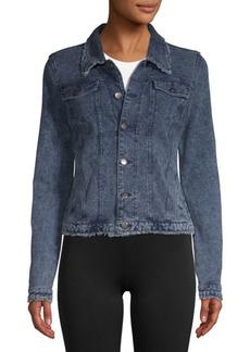 Marc New York Frayed Denim Jacket
