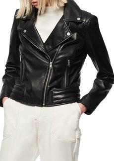 Marc New York Grange Leather Moto Jacket