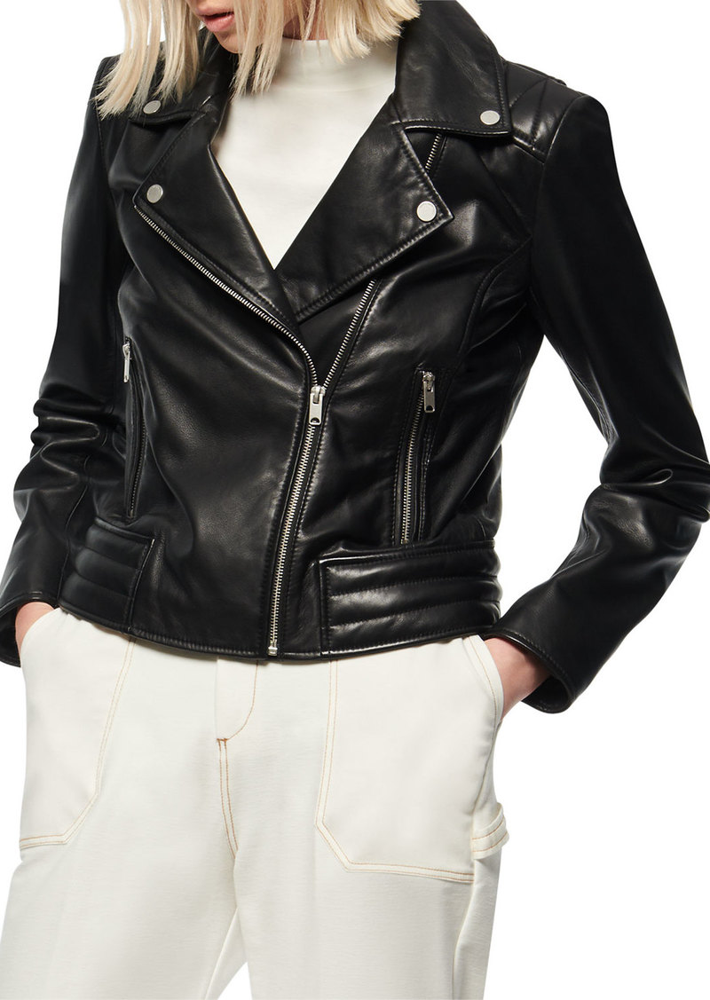 Marc New York Grange Leather Moto Jacket