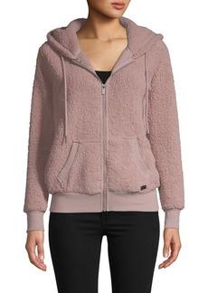Marc New York Hooded Faux Fur & Fleece Teddy Jacket