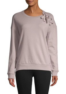 Marc New York Lace-Up Cotton-Blend Sweatshirt