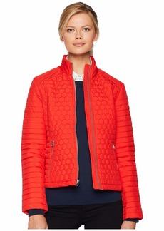Marc New York Linden Honeycomb Mini Quilted Scuba Jacket