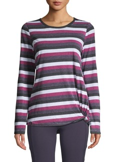 Marc New York Long Sleeve Striped Knot Tee