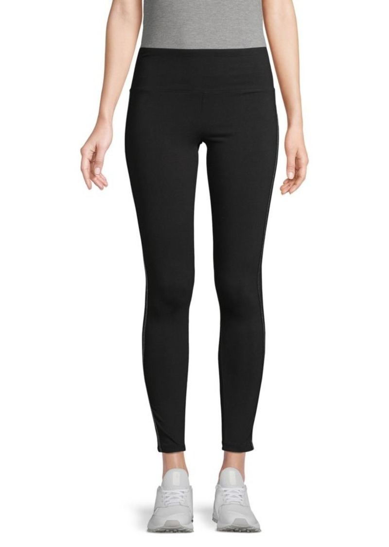 Marc New York Metallis Side-Stripe Leggings