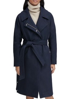 Marc New York Belted Faux Wrap Coat