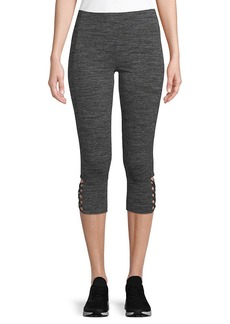 Marc New York By Andrew Marc Performance Caged-Cuff Cropped Legging