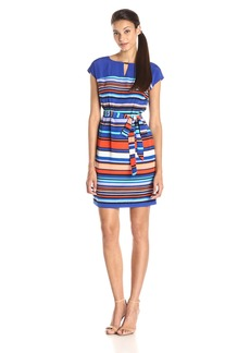 Marc New York by Andrew Marc Women's Brush Stripes Shift Dress