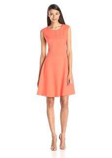 Marc New York by Andrew Marc Women's Cap Sleeve Scoopneck Fit and Flare Dress