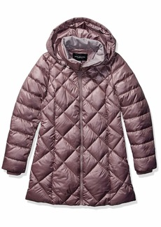 Marc New York by Andrew Marc Women's Claremont Diamond Quilted Down Jacket with Removable Hood