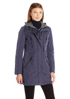 Marc New York by Andrew Marc Women's Dani Transitional Sporty Coat with Hood  S