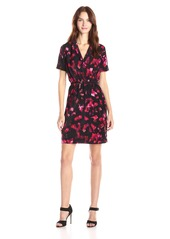 Marc New York by Andrew Marc Women's Elbow Sleeve Printed Crepe Dress
