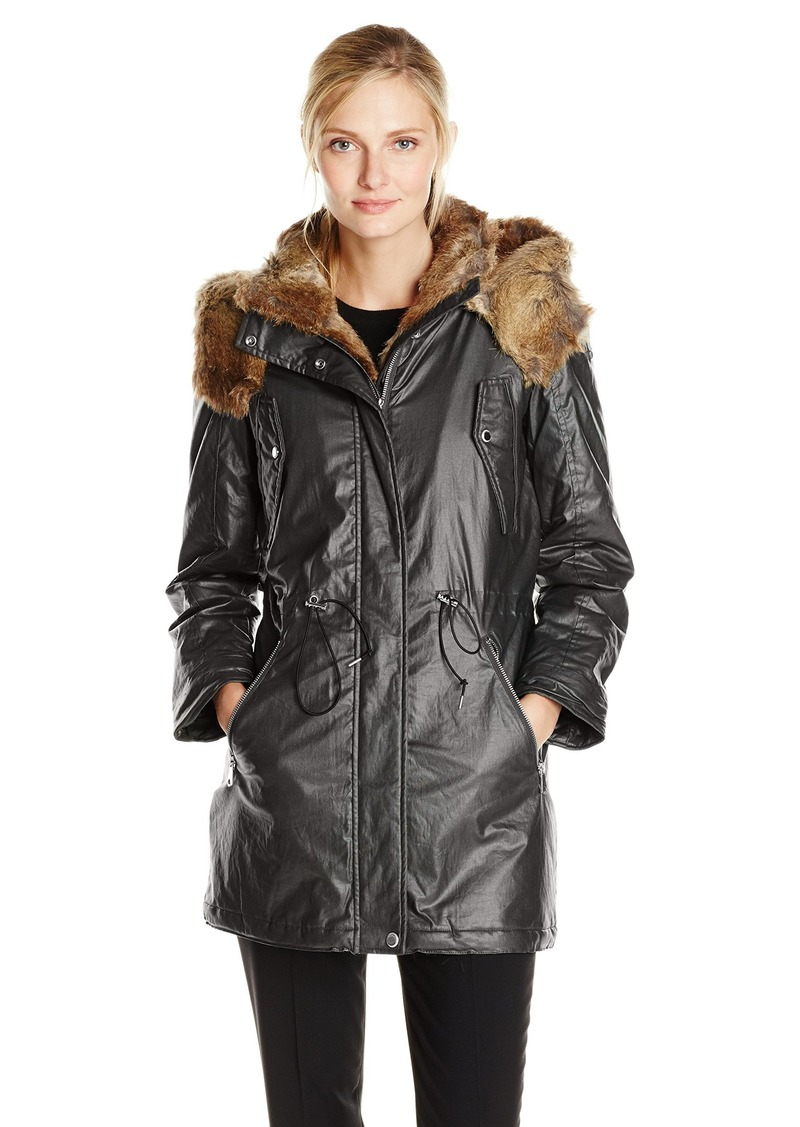 Marc New York by Andrew Marc Women's Lauren Coated Cotton Parka