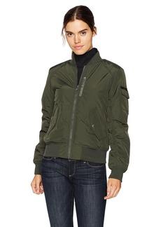 Marc New York by Andrew Marc Women's Nicole Fine Twill Nylon Reversible Jacket  Extra Large