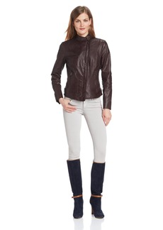 Marc New York by Andrew Marc Women's Raven Leather Jacket