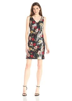 Marc New York by Andrew Marc Women's Sleeveless Printed Sequin Dress