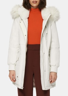 Marc New York Carina Water Resistant Hooded Parka with Faux Fur Trim