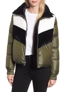 Marc New York Chevron Stripe Puffer Jacket