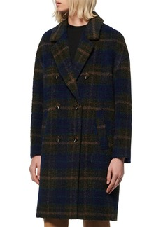 Marc New York Double Breasted Plaid Coat