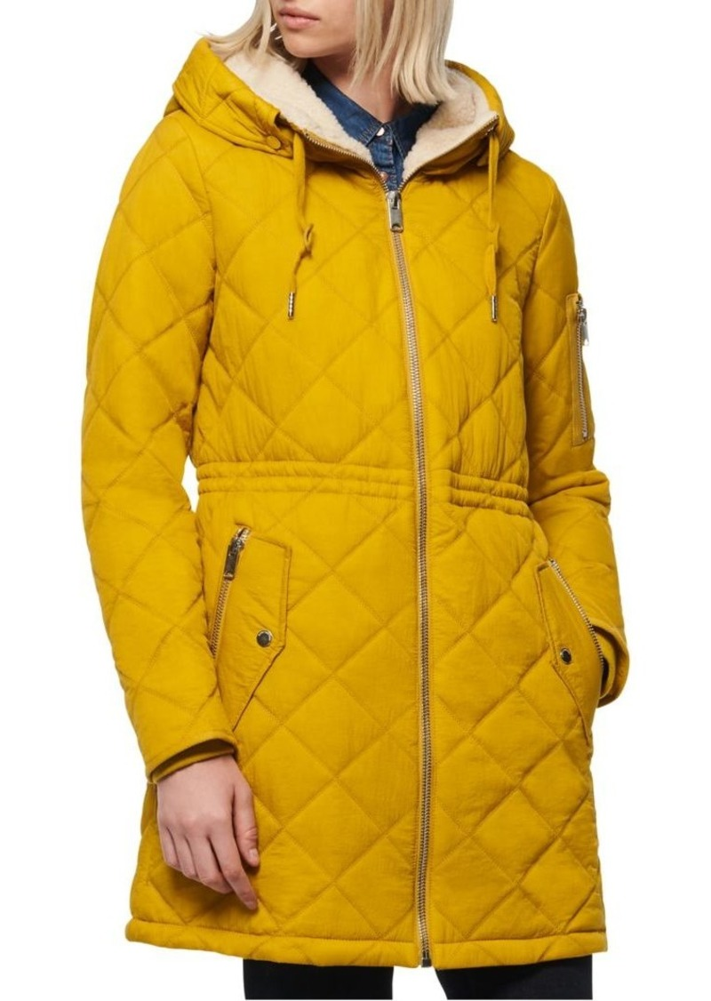 Marc New York Faux Fur-Lined Quilted Coat