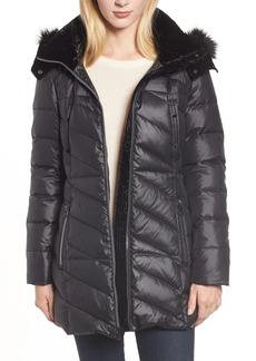 Marc New York Faux Fur Trim Puffer Jacket