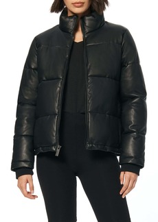 Marc New York Faux Leather Puffer Jacket