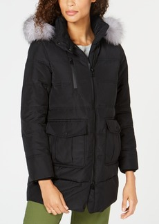 Andrew Marc Marc New York Fox-Fur-Trim Hooded Down Parka