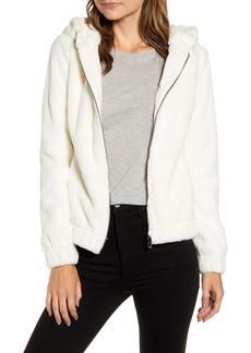 Marc New York Hooded Faux Fur Bubble Jacket