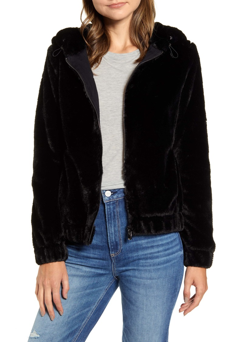 Marc New York Hooded Faux Fur Bubble Jacket