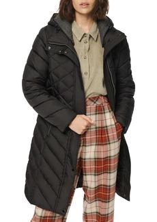 Marc New York Matte Jersey Lined Hooded Puffer Coat